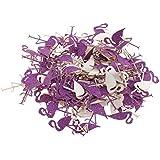 Baoblaze 約30g フラミンゴ 紙吹雪 クリスマス 誕生日パーティー 手芸用 DIY装飾 3色選べ - 紫