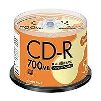 日用品 周辺機器 関連商品 (まとめ買い) データ用CD-R 700MB 48倍速 ホワイトプリンターブル スピンドルケース SR80FP50T 1パック(50枚) 【×4セット】