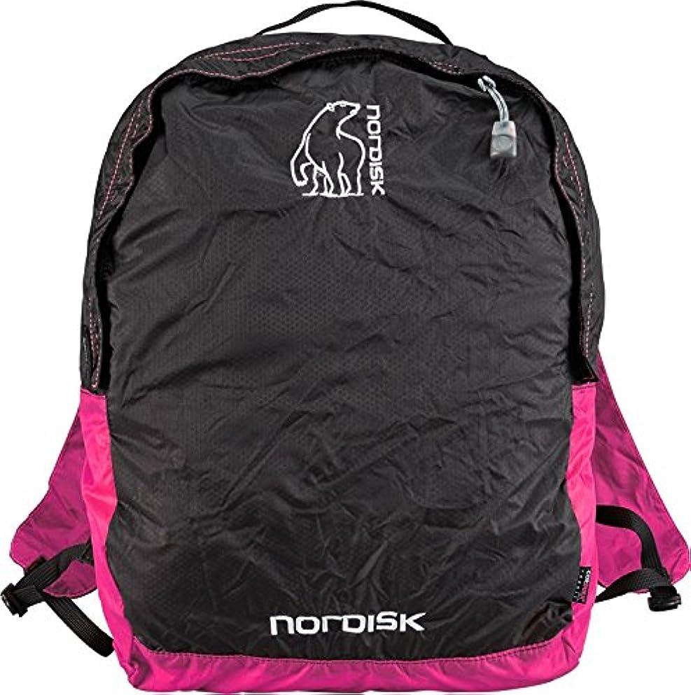 モスク問い合わせる反対するNORDISK(ノルディスク) ポケッタブルバッグ ニベ  12L  ブラック/ラズベリーピンク 133019