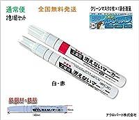 工業用消えないマーカー中・FA-KGM-1W10-02HJ (通常便) (白1本・赤1本)