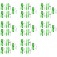 8 x Quantity of Hubsan X4 H107D Green White 55mm Propellers Blades Props 5x Propeller Blade Prop Set 20pcs Drone Parts Drones [並行輸入品]