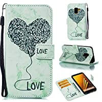 For Samsung Galaxy A8 2018 Case, [Extra Card Slot] Phoebe [Wallet Case] PU Leather TPU Casing 耐久保護ケース [Drop Protection] Cover for Samsung Galaxy A8 2018, Green