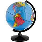 World Globe Great for Kids and Adults with Stand Desk 8 Inch Globe 12 Inch Educational Deluxe Blue Ocean Black Base Full Earth Geography … (Blue Ocean, 8 Inch Diameter)