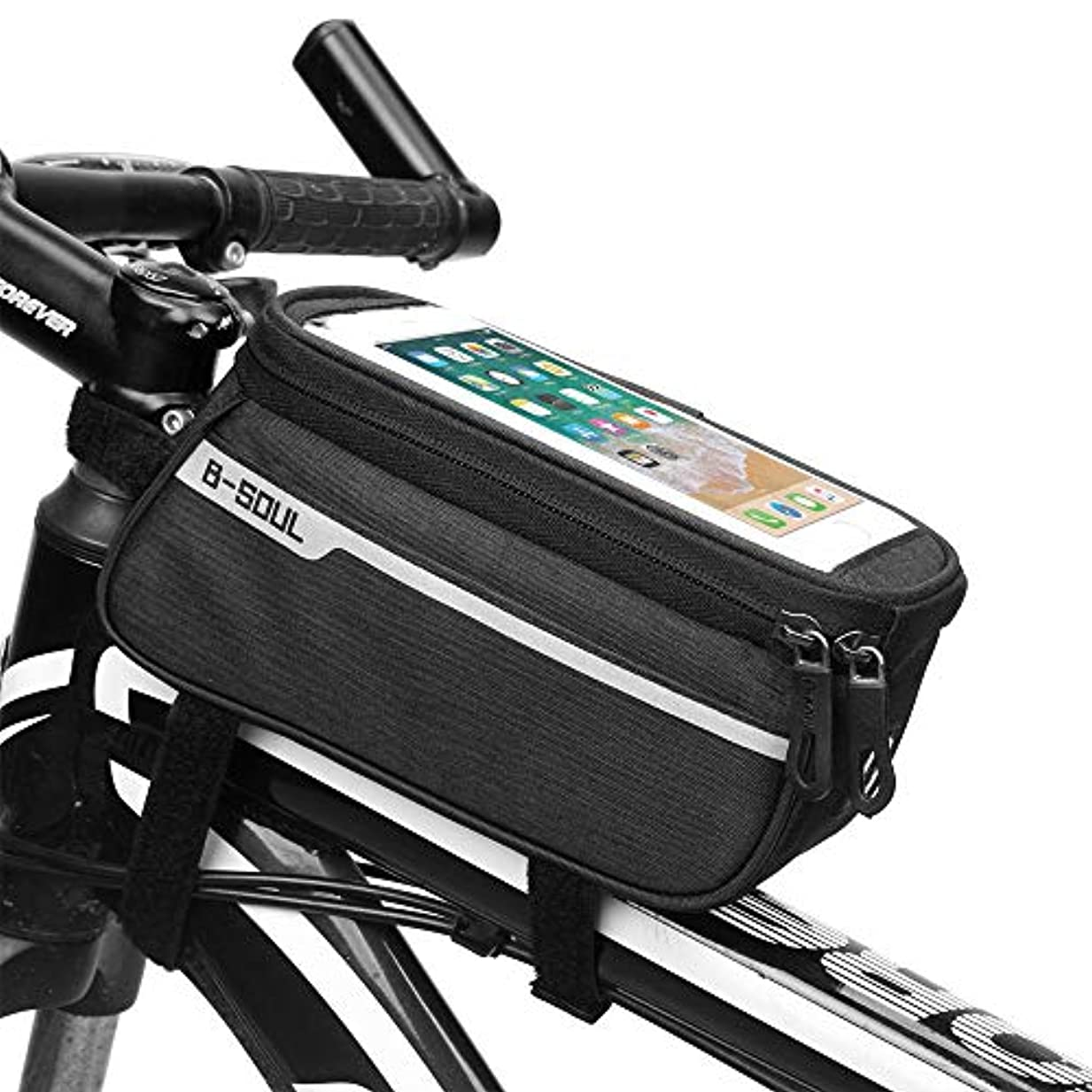 その結果エトナ山素晴らしき自転車サドルバッグマウンテンバイクバッグフロントビームバッグ自転車バッグロードカーフロントバッグ乗馬用品サドルバッグチューブバッグ サドルバッグ?フレームバッグ (色 : ブラック)