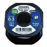 ホーザン(HOZAN) 鉛フリーハンダ 鉛フリー半田 線径0.3mmΦ 重量100g Sn-3Ag-0.5Cu HS-301