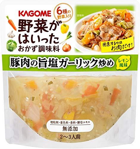 カゴメ 野菜がはいったおかず調味料 豚肉の旨塩ガーリック炒め 230g×8袋