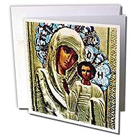 ロシアアイコン–ロシアのアイコンThe Blessedメアリー–グリーティングカード Set of 6 Greeting Cards