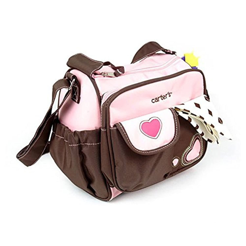 ARAUS メッセンジャーバッグ ミイラバッグ マザーズバッグ 斜めかけバッグ 多機能 大容量 帆布 手持ち 肩掛け 赤ちゃん 子供 ママ レディース かわいい (ピンク)