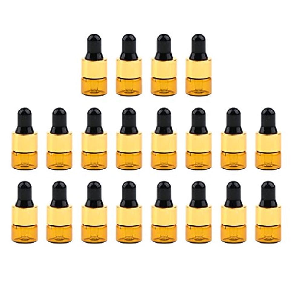 寸法つまずくズーム20セットガラス1ml 2ml 3mlエッセンシャルオイル香水用オリフィスリデューサースポイト付き詰め替え可能空Emptyボトル - 1ミリリットル