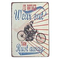 ブリキ看板 バイク bike-4-238 / アメリカン雑貨 サインプレート インテリア カフェ