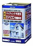 サンデーペイント サイディング・外壁用水性シリコン樹脂系塗料 アイボリー 8kg