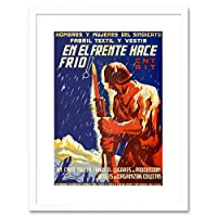 War Spanish Civil Republican Charity Clothing Spainad Framed Wall Art Print 戦争スペイン語市民共和党チャリティー衣類スペイン壁