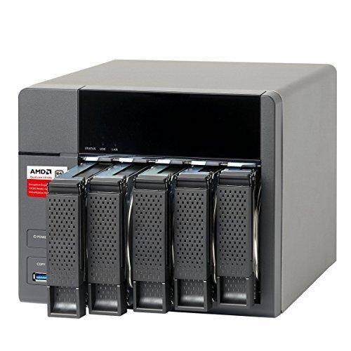 QNAP TS-563-8G 5-Bay AMD 64bit x86-based NAS, Quad Core 2.0GHz, 8GB RAM, 2 x 1GbE, 10G-ready [並行輸入品]