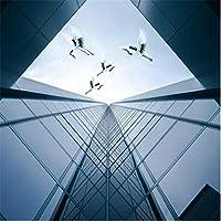 Lcymt 現代建築ガラス窓天頂天井天井壁画カスタム大壁画緑壁紙-350X250Cm