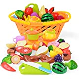 NextX おままごと おもちゃ 収納バスケット付き サクッと切る 野菜 果物 イチゴ ごっこ遊び 女の子 男の子