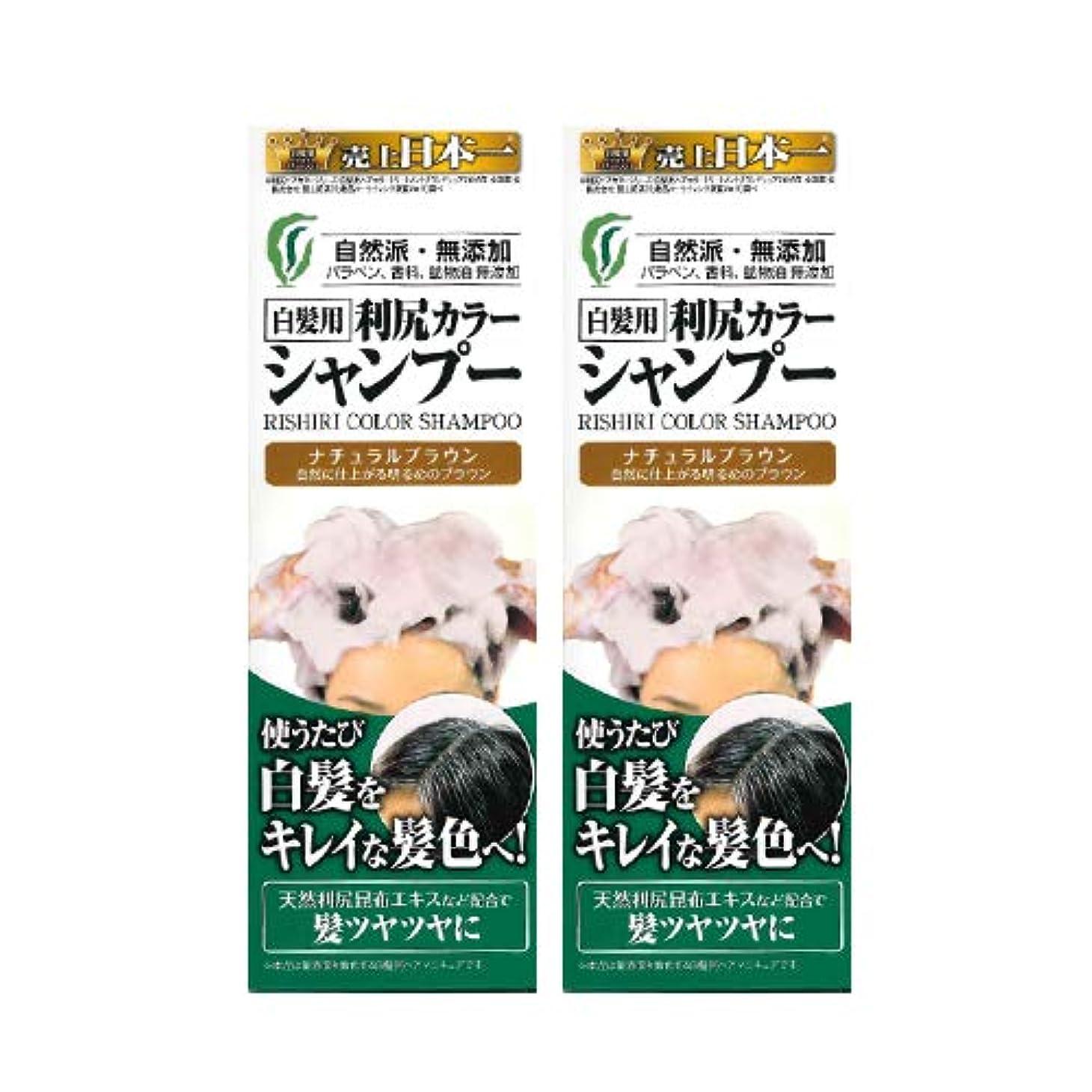 不完全なお祝い飛躍利尻カラーシャンプー2本セット(ナチュラルブラウン)