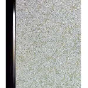DUOFIRE 窓用フィルム 目隠しシート【水で貼る 貼り直し可能】ガラスフィルム 遮光・遮熱・断熱シート 装飾フィルム 紫外線・UVカット (DS005, 0.6M X 3M)