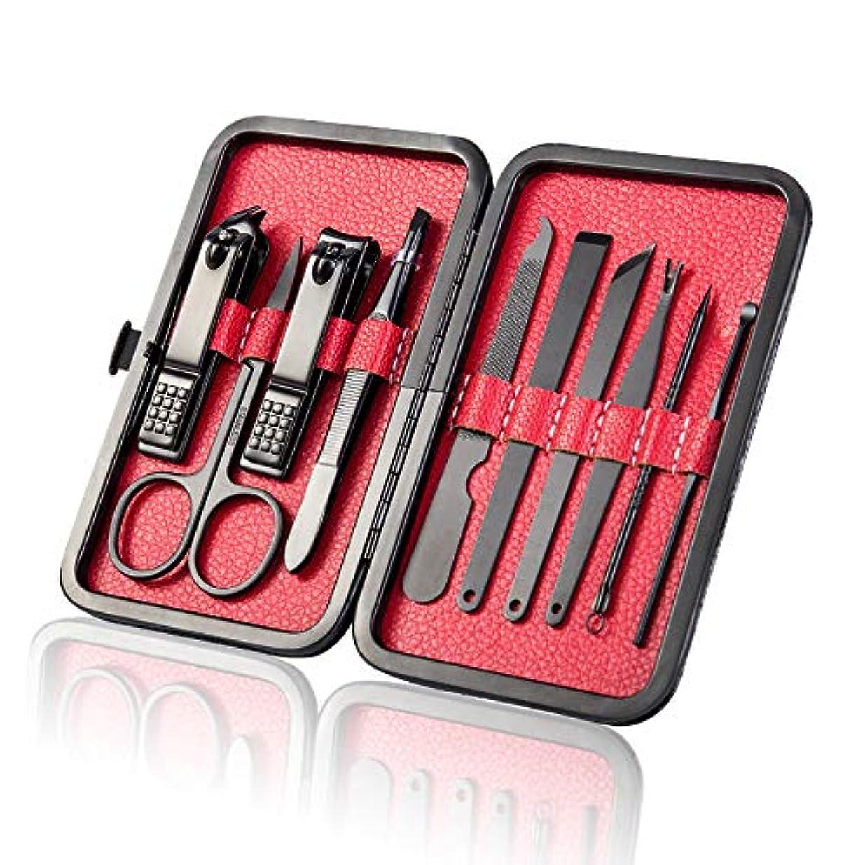 ライムパズルほこり15本のネイルツールセットの美容セットマニキュアナイフ用に設定されたステンレス鋼ネイルハサミはカスタマイズ可能