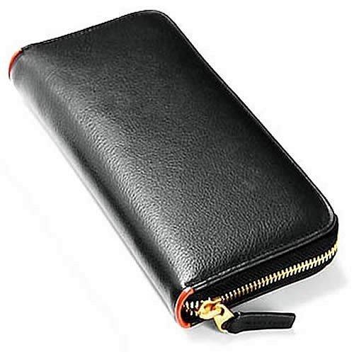 [ビームススクエア]BEAMZ SQUARE 財布 サフィアーノレザー製ラウンド長財布 メンズ BS-1508 オレンジ