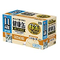 健康缶 11歳からの健康缶6P しっとりムース ささみとまぐろ 40g×6缶