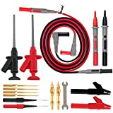 Micsoa Deluxe Electrical Test Lead Kit, Digital Multimeter Leads Automotive Test Leads with Alligator Clips, Retractable Test Clips, Back Probe Pin & Tips Set of 16