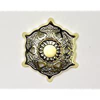 伊勢 - 宮忠 - 六葉金具 真鍮本金鍍金 2寸