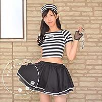 【OVERLAP】【marcydorn】囚人服 トップス スカート 手錠付き5点セット