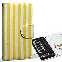 スマコレ ploom TECH プルームテック 専用 レザーケース 手帳型 タバコ ケース カバー 合皮 ケース カバー 収納 プルームケース デザイン 革 チェック・ボーダー 黄色 イエロー ストライプ 模様 008427
