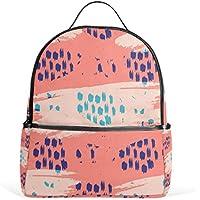 マキク(MAKIKU) リュック レディース おしゃれ 軽量 大容量 通学 通勤 旅行 足跡柄 ピンク プレゼント対応