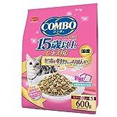 日本ペットフード ミオ コンボ キャット 毛玉対応15歳以上 かつお味・焼きタラ・ちりめん添え 600g