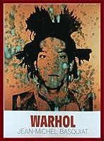ポスター アンディ ウォーホル ジャン=ミシェル・バスキア 1982 額装品 ウッドベーシックフレーム(レッド)