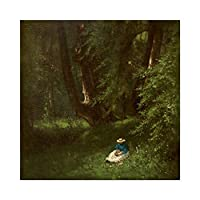 Inness In the Woods Large Wall Art Poster Print Thick Paper 24X24 Inch 木材 壁 ポスター印刷