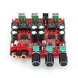 2.1チャンネルステレオサブウーファーデジタルパワーアンプボードDC 12V-26Vオーディオレシーバー(TPA3118チップ付)
