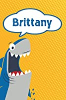 "Brittany: Personalized Shark Draw and Write Diary journal log 120 pages 6""x9"""