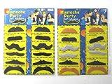 【la select】付け髭 つけひげ 『2種類』『色違い』ヒゲ 宴会 オシャ  レ小物【黒+カラー12個セット】