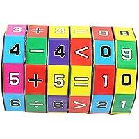 Rong Halloween 子供用 数学番号 マジックキューブ おもちゃ パズル ゲーム ギフト A ブラック aaa