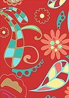 ポスター ウォールステッカー シール式ステッカー 飾り 182×257㎜ B5 写真 フォト 壁 インテリア おしゃれ 剥がせる wall sticker poster pb5wsxxxxx-007958-ds ユニーク 花 フラワー 水色 赤 レッド 模様