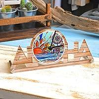 (イチノユメ) ICHINOYUME 置き時計 おき時計 時計 ハワイアン Hawaii アロハ 海 ビーチ サーフ surf おしゃれ 人気 プルメリア ワーゲンバス サーフボード【Catch Your Dream】
