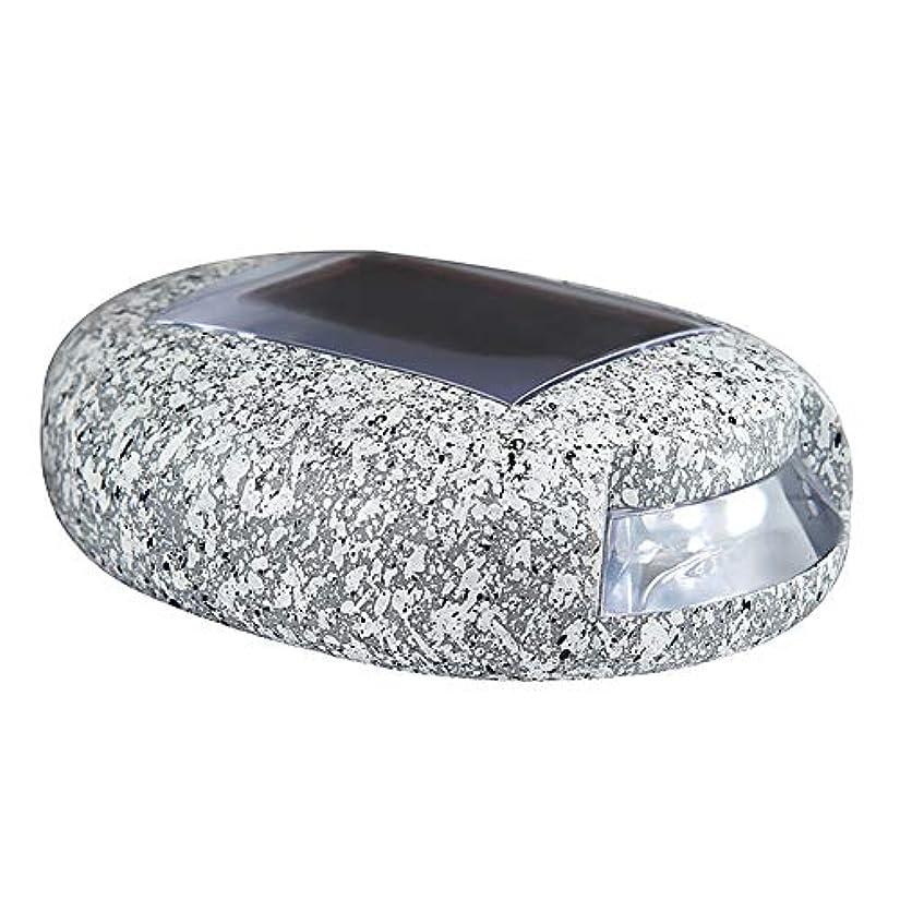 国籍痛いナラーバー屋外のソーラーライト、シミュレーションの石造りのランプ、暖かい白色LEDライトを備えたソーラー電源ガーデンライト、防水の夕暮れから夜明け