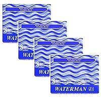 ウォーターマン WATERMAN 万年筆カートリッジインク フロリダブルー 8本入り 4箱セット!