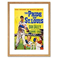 Movie Film Ad Pride St Louis Dizzy Dean Story Framed Wall Art Print 映画膜ルイ壁