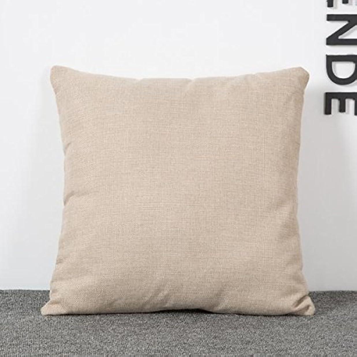 翻訳する移植少しB Blesiya クッションカバー5色シンプルな幾何学模様のリネンソファー腰枕カバー