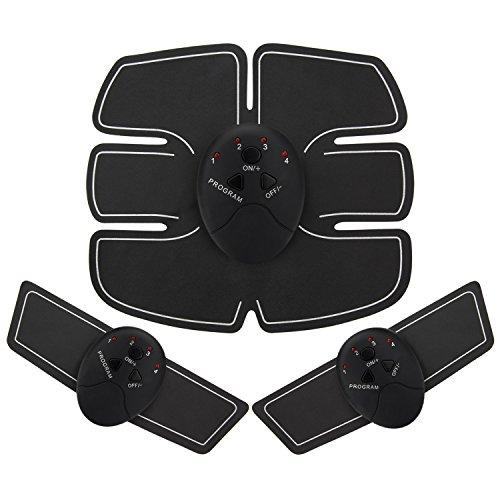 AKARUI 腹筋ベルト 多機能 EMS 腹筋 腕筋 ジェルシート 筋トレフ