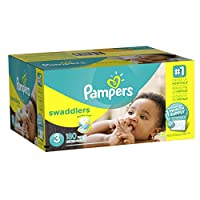 Pampers Swaddlers Diapers, Size 3, One Month Supply, 180 Count (Packaging May Vary) by Pampers