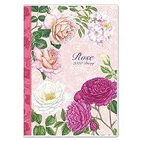 薔薇のダイアリー スケジュール帳 A5サイズ 2020年 ローズ 手帳 (クラシックローズ ピンク)