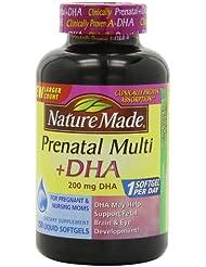 ネーチャーメイド 妊婦用マルチビタミン+DHA (200mg) Nature Made Prenatal Multi + DHA (200mg) 150 Liquid Softgels (並行輸入品)(海外からの直送品)