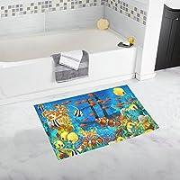 interestprint動物イルカwith Ocean Sunsetペイントホーム装飾非スリップBath Rugセット吸収性用フロアマット浴室浴槽寝室Largeサイズ20 x 32インチ 20x32 inch B0018-F20in