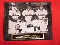Rare Roger Maris ルッキーイヤー彫刻コレクター飾り板 8x10の写真付き ロッキー・コラビト付き