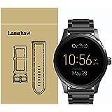 Lamshaw ステンレス メタル 高品質 ベルト 交換バンド 対応 FOSSIL 腕時計 Q MARSHAL スマートウォッチ (ブラック)