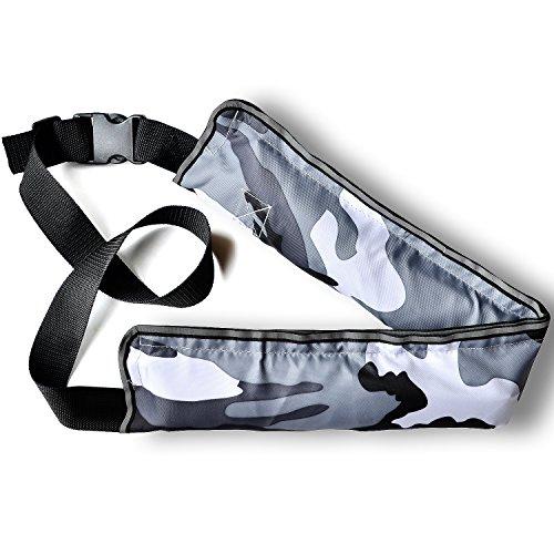 SuperSunny ライフジャケット 手動膨張式 ベルトタイプ (迷彩白) ライフベスト CE認証取得済